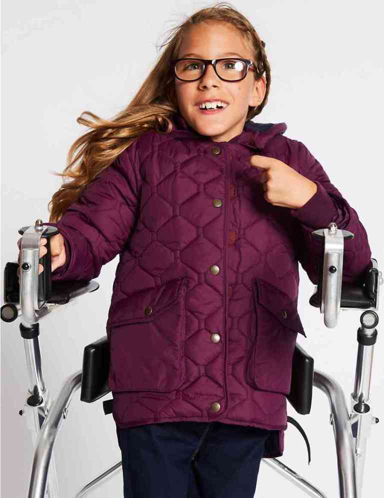 Marks and spencers advert featuring girl with disabilities for the easy dressing range