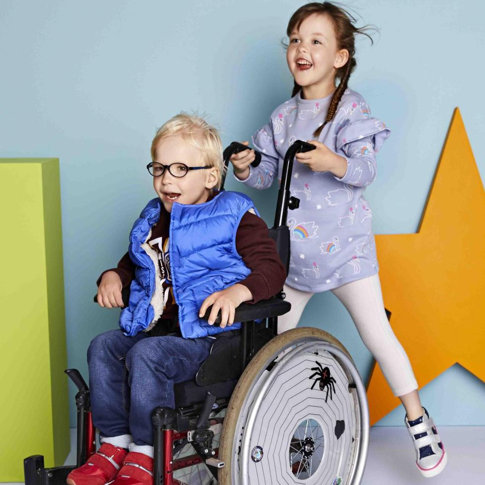 Marks and spencers advert with disabled children playing in the easy dressing range