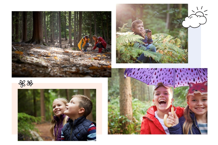 Harry Thomas and Phoebe Taylor collage of their modelling shoot for Hartland Village