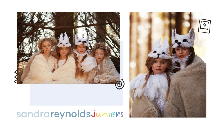 Winter Woods homepage shoot, featuring our talented Sandra Reynolds Juniors models: Olivia Plompen, Phoebe Taylor, Angel Jablonowski and Stella Lee, as well as Emily Smith, Meredith Pickett and Georgia B from Sandra Reynolds.