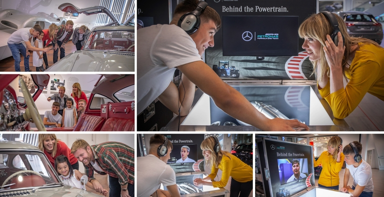 Stills for Mercedes Benz World with sinead gray david ellard stefano peresson alexandra arriaga and paula tovar